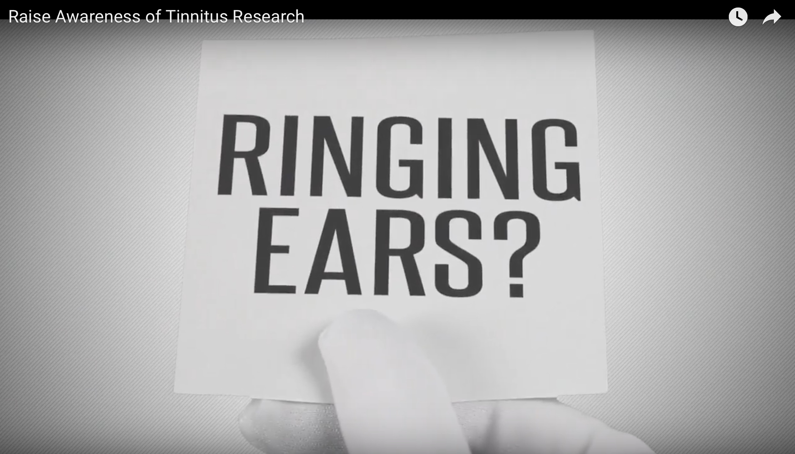 Tinnitus Awareness Video
